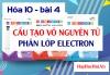 Cấu tạo vỏ nguyên tử, phân lớp Electron và bài tập - hóa 10 bài 4